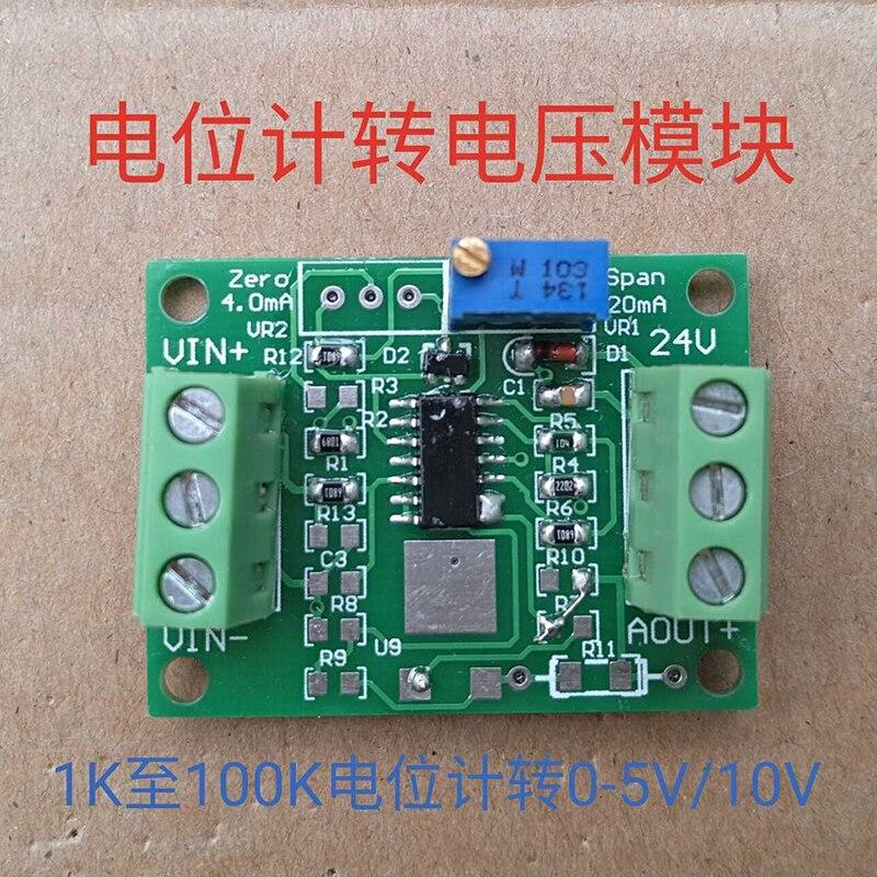 Potenciómetro escala de resistencia 0-5/10v 0-1k/5k/10k voltaje 0-5/10v módulo analógico ajustable