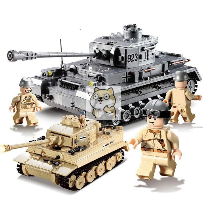 82010 82011 1193 Grande Tanque Panzer IV Conjunto Blocos Tijolos DIY Brinquedos Educativos Para Crianças Compatível Legoings Cidade tanque