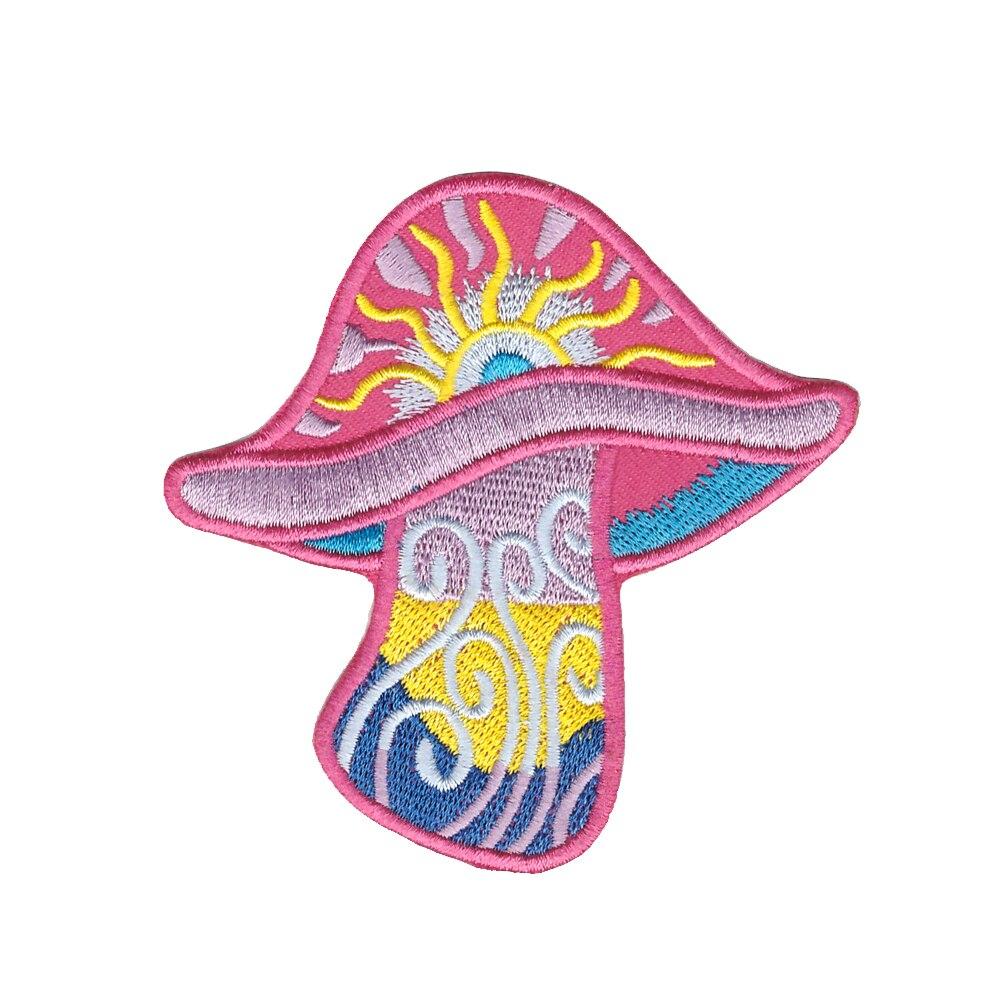 Remendos de roupas na moda arco-íris cogumelo boho hippie retro amor paz árvore trance apliques ferro-no remendo