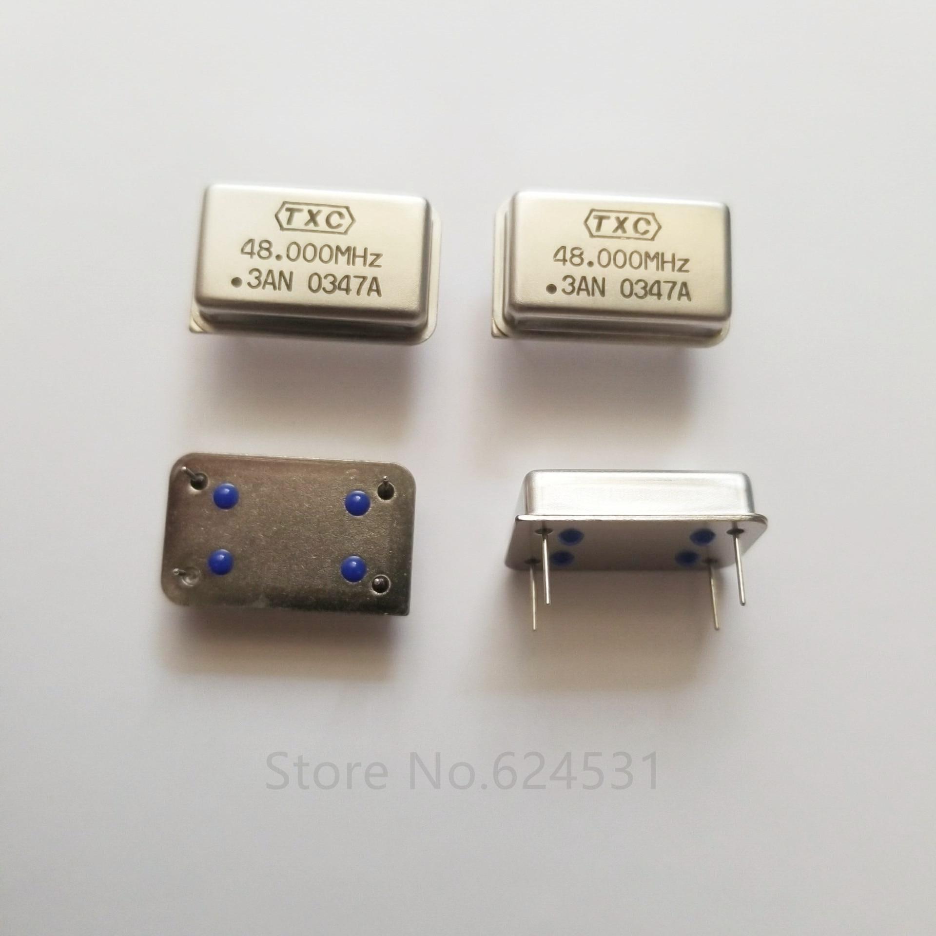 5Pcs In-Lijn Actief Kristal Osc Dip-4 Rechthoekige Klok Trillingen Full Size 48Mhz