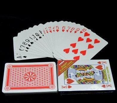 Бумажные покерные карты большого размера, в 4 раза больший размер обычных игральных карт, супер большой покерный набор, 17х12см забавные карто...