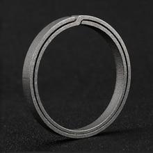 2019 Real Titanium Alloy Key Ring Super Lightweight Titanium Keychain Hanging Buckle Key Rings Quickdraw Tool Creative KeyRing