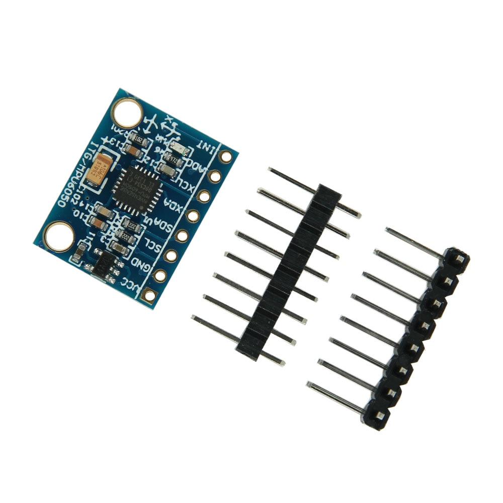 2 piezas de la CII I2C GY-521 MPU-6050 MPU6050 3 ejes analógicos giroscopio sensores acelerómetro de 3 ejes para Arduino DC 3-5 V
