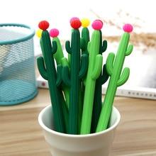 3 sztuk/zestaw długopis żelowy kaktus lapices Kawai boligrafo kreatywność kalem szkoła narzędzia stylo długopisy caneta szkolne materiały biurowe