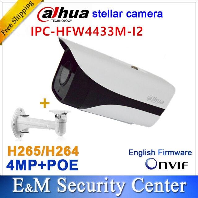 Original dahua IPC-HFW4433M-I2 reemplazar IPC-HFW4431M-I2 IPC-HFW4431D 4MP estelar IP bala POE IR CCTV cámara con soporte