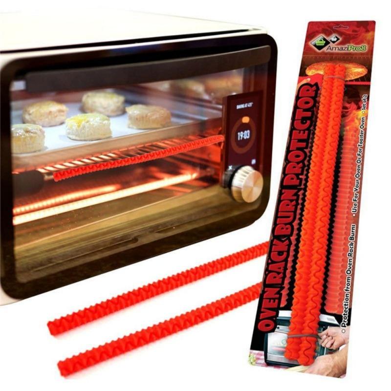 Estante de silicona resistente al calor para horno, 2 uds., Protector para bordes, herramientas de cocina