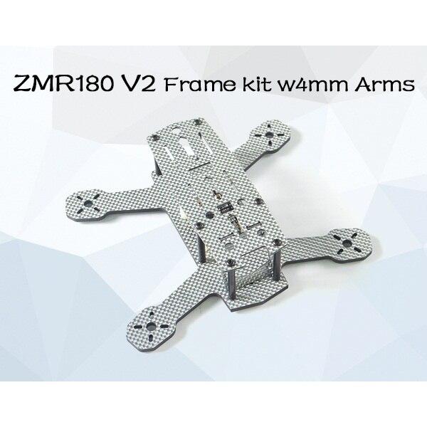 ZMR180 V2 Mini Quad Kit de marco de 4mm armas w con AP de alta calidad 4mm Placa de fondo y un la placa superior de 1,5mm utiliza la misma fibra de carbono