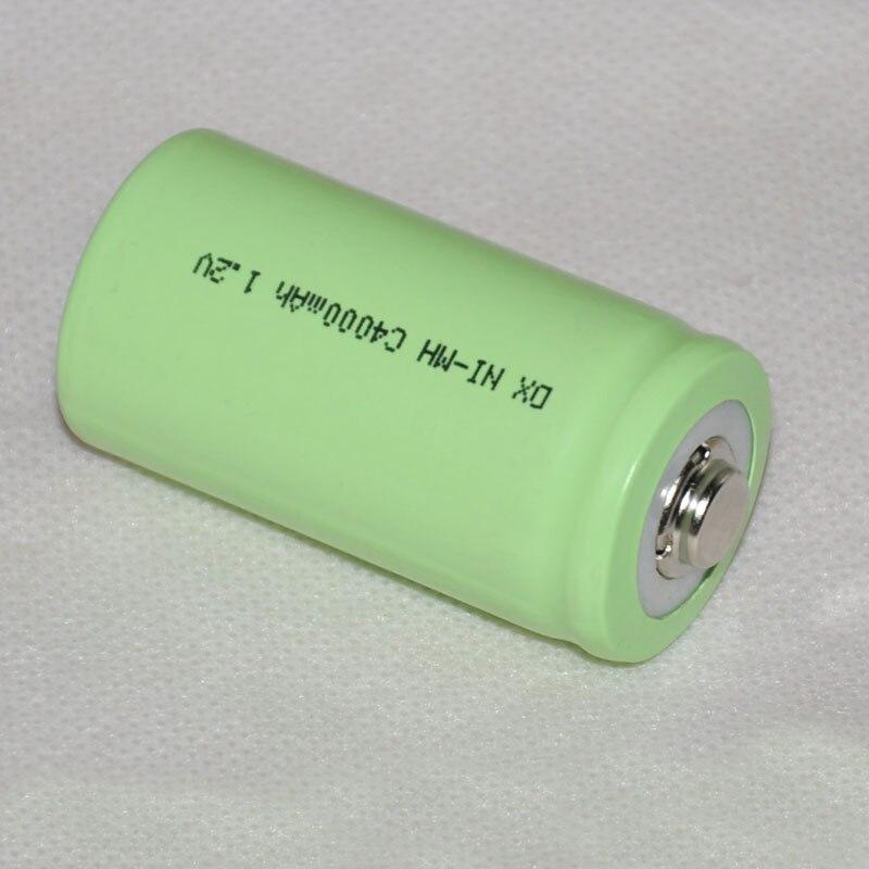 2-5 шт 1,2 В перезаряжаемый никель-металлогидридный аккумулятор 4000 мАч, размер C LR14 R14 для фонарика и игрушек, часы
