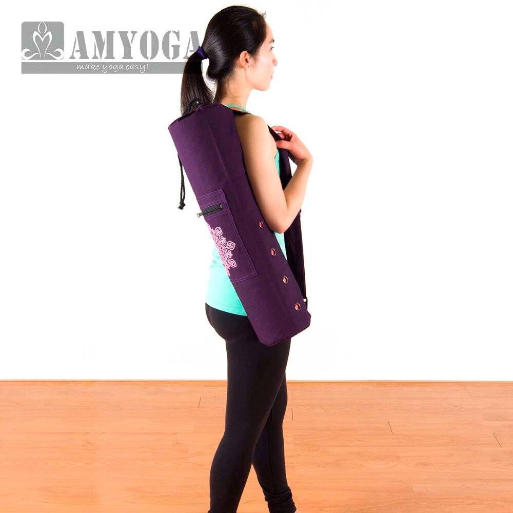 Hot Canvas Yoga bag gym mat bag yoga backpack Yoga Pilates Mat Case Bag Carriers for 6mm (Yoga mat not including)