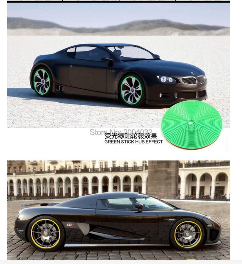 8M Car Wheel Hub Tire Protection Sticker FOR hyundai tucson 2016 toyota renault megane volvo volkswagen polo kia car-styling