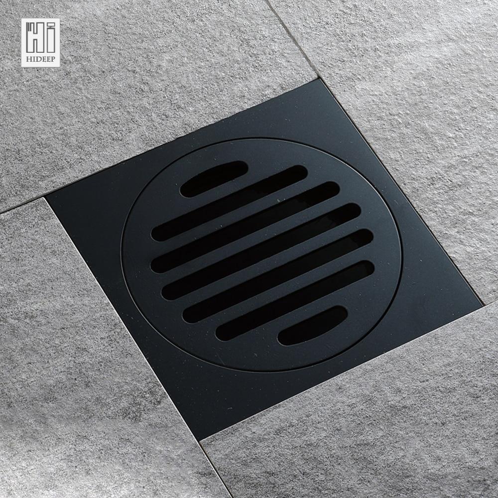 HIDEEP Nero design Moderno Bagno In Ottone Tipo Deodorizzazione Scarico A Pavimento Della Cucina Filtro A Cestello di Scarico Scolapiatti Scarico A Pavimento
