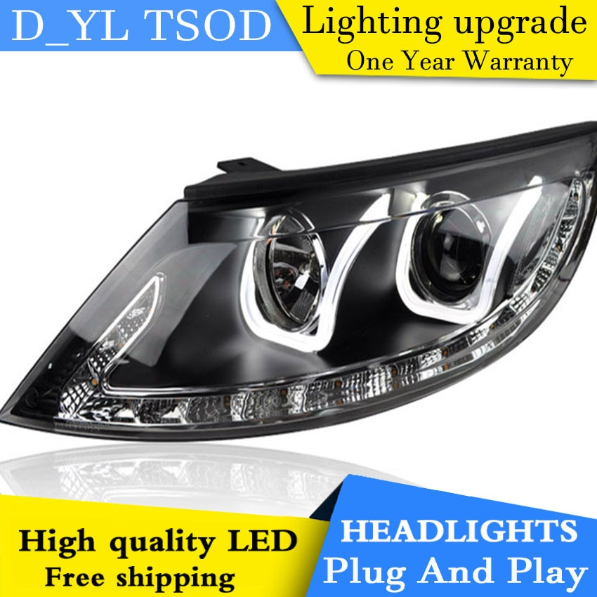 DYL Car Styling para Kia Sportage faros 22011-2012 Sportage LED Head lampara LED DRL Bi Xenon lente de alta luz de cruce