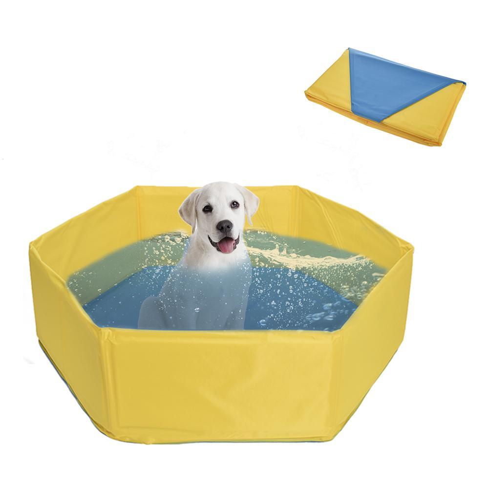 Nuevo juguete para mascotas, piscina, perro, gato, bañera plegable, esponja, Baño de mascotas, piscina, divertido, genial, portátil para Pug, perrito yorkie