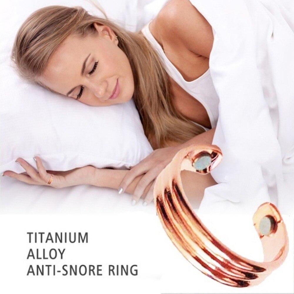 En contra de los ronquidos dispositivo anulador de ronquidos anillo de dedo ayuda para dormir Anti ronquido anillo magnético terapia de acupresión tratamiento