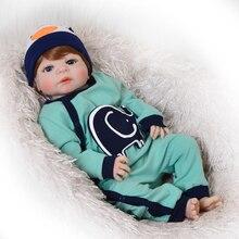 Bebes Reborn corps complet silicone vinyle bébé garçon poupées jouets pour enfants cadeau 23