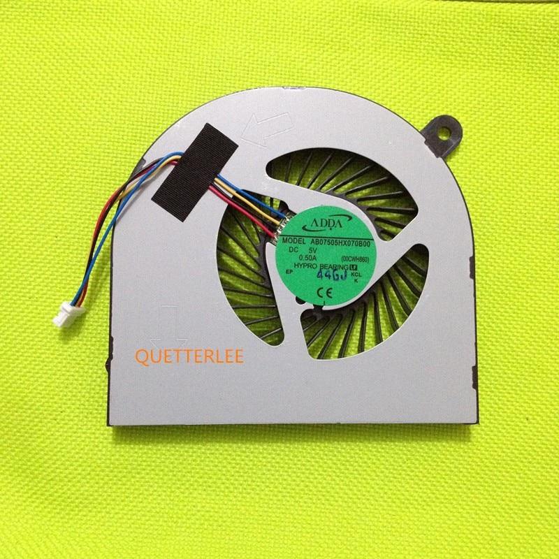 Nouveau modèle Original de ventilateur de refroidissement CPU ADDA AB07505HX070B00 00CWH860 pour Acer VN7-591 591G-50LW ventilateur 4PIN