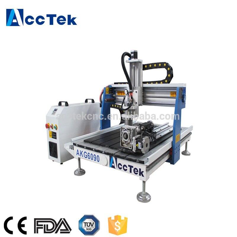 China Fornecedor de PVC, alumínio, ferro, cobre, de corte de pedra máquina de mini Router CNC 6090 1.5kw da água de arrefecimento para o trabalho 3d