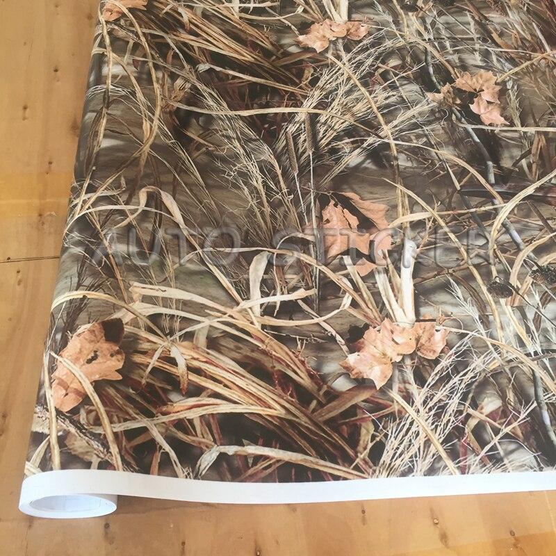 Película de vinilo de camuflaje Realtree Grass Wrap con burbujas de aire, pegatina adhesiva de estilo para coche, calcomanía de moto para envolver