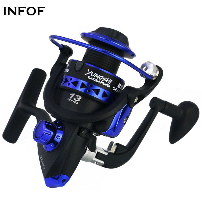 INFOF Fishing Reel BK1000-7000 Spinning Reel 5.5:1 13BB Max Drag 8KG Carp Fishing Tackles Freshwater Reels