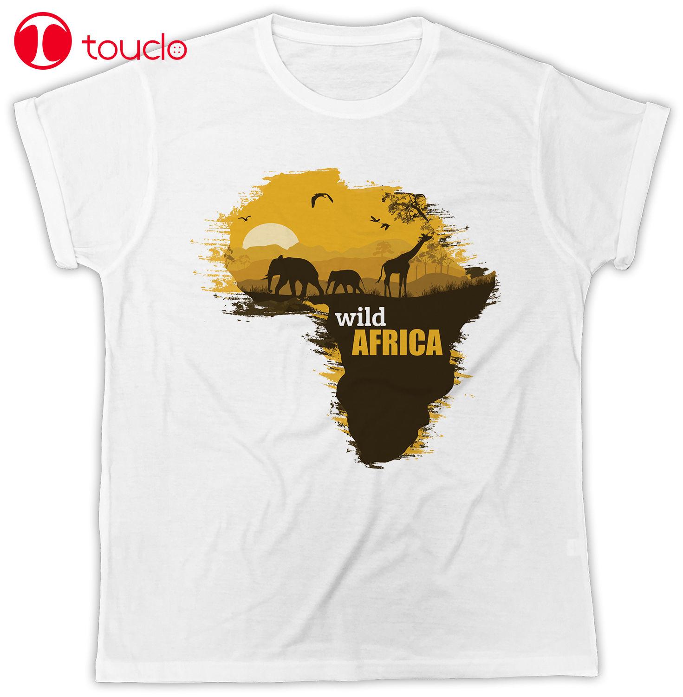 2019 moda Casual hombres camiseta África mapa salvaje mapa africano Cool moda Ideal regalo Unisex hombres camiseta sudadera