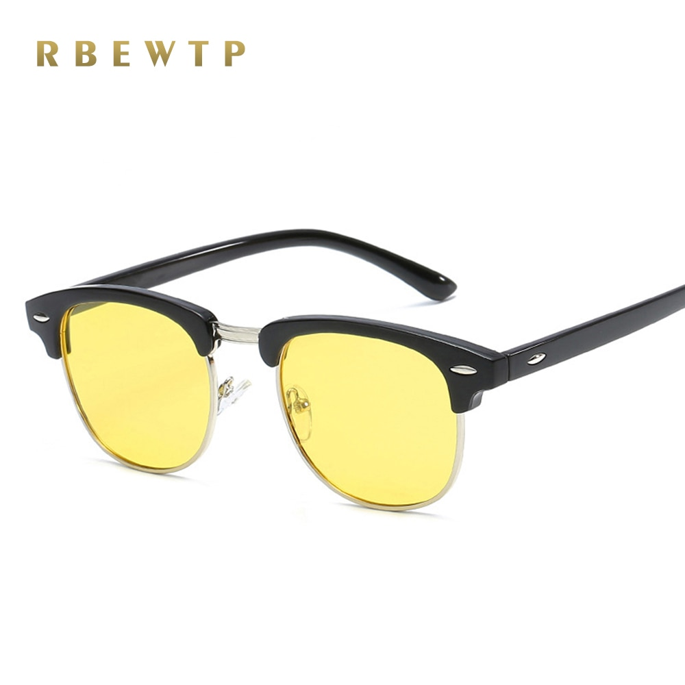 2019 new Semi Rimless Men's Sports Sun Glasses Driving Polarized Sunglasses Night Vision Sunglass br