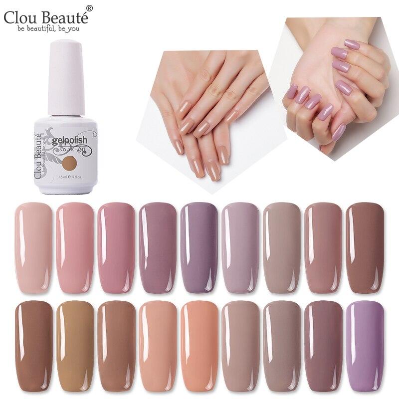Гель-лак для ногтей Clou Beaute, 15 мл, Полупостоянный УФ-лак для ногтей