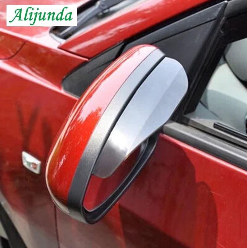 2 unids/set de coche espejo retrovisor lluvia ceja escudo protección flexible accesorios de PVC para Subaru Suzuki SX4 SWIFT Alto Liane