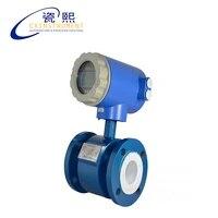 water flow meter sensor with 4 060 m3h test range carton steel material 420ma output digital flow meter