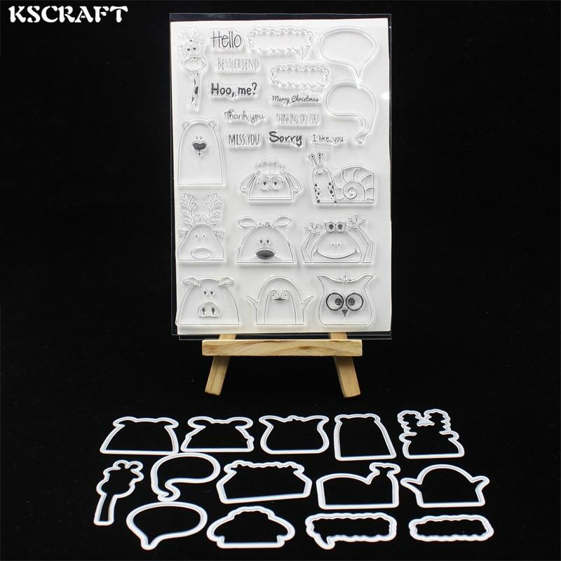 KSCRAFT Hidden Animals Stamp Metal Cutting Dies Stencils for DIY Scrapbooking/photo album Decorative Embossing DIY Card 353