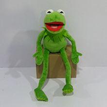 무료 배송 45 cm = 17.7 inch 만화 muppets kermit 개구리 박제 동물 봉제 소년 장난감 어린이 생일 선물