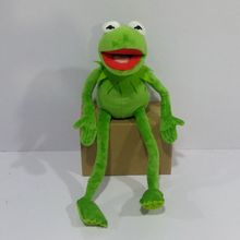 Frete grátis 45cm = 17.7 polegada dos desenhos animados os muppets kermit sapo animais de pelúcia menino brinquedos para crianças presente aniversário