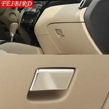 ABS Chrome Copilot Glove Storage Box Handle Sequins Molding Garnish Silver For Nissan Qashqai J11 2014 2015 2016 2017 2018 2019