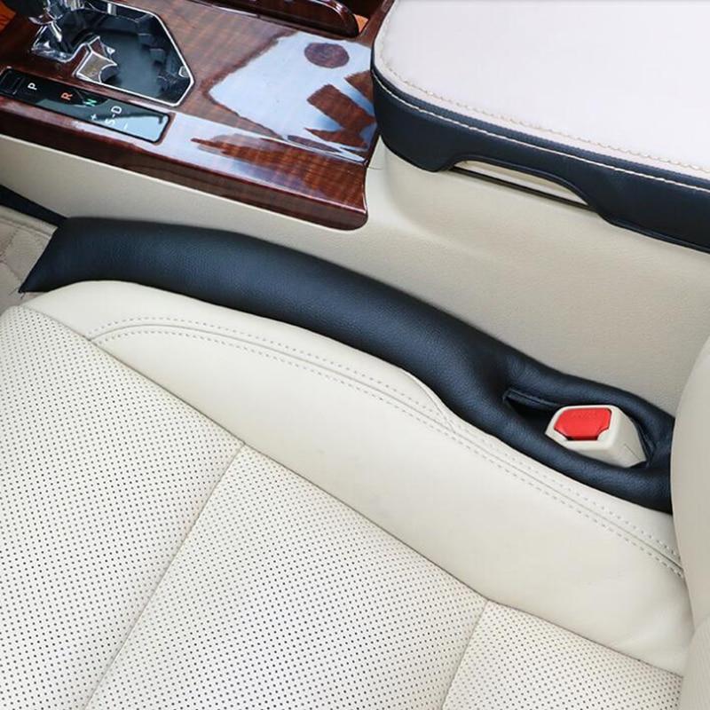 2 Pcs Universal Car Space Pad sticker PU Leather Soft Mat Auto Seats Seam Filler Holster Sponge Cars Spacer Plug stickers