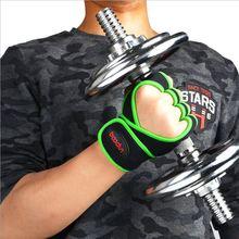 Boodun العلامة التجارية الجديدة المضادة للانزلاق نصف قفازات أصابع مع طول شريط للرسغ اليد حامي قفاز جيدة ل تجريب ممارسة