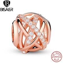 Original 925 argent Sterling or ajouré cristaux fabrication de bijoux pendentif à breloque Fit BISAER Bracelet et collier WEUS120