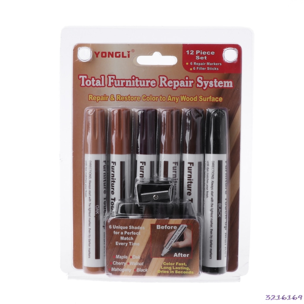 Wood paint Wood Repair System Kit Filler Sticks Touch Up Marker Floor Furniture Scratch Fix