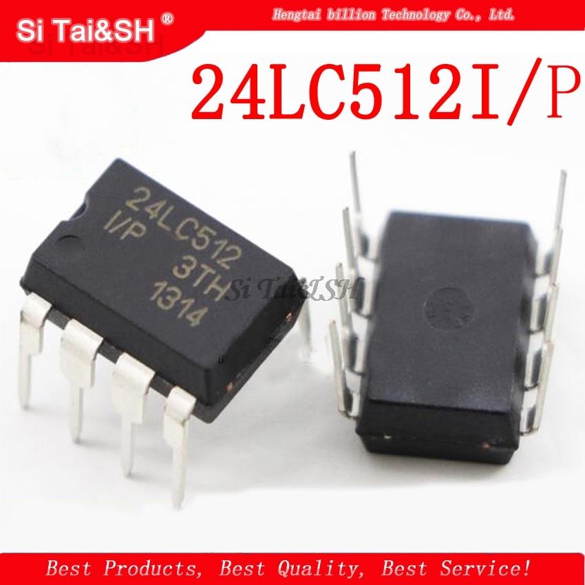 1 шт./лот 24LC512I/P 24LC512 512K I2C серийный EEPROM