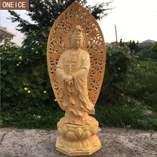 2019 creatieve massief hout Boeddha standbeeld sculptuur Hand-gesneden meubilair home decoratie accessoires standbeeld Boeddha standbeeld loft december