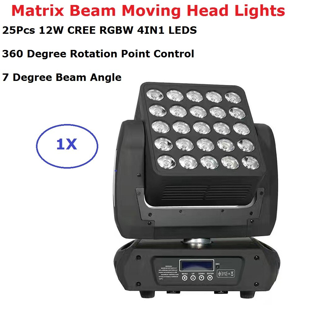 LEDS CREE de alta calidad RGBW 4en1 25X12W, matriz de luces con cabezales móviles, perfectos para escenarios, teatro, TV, estudio, discoteca, discotecas