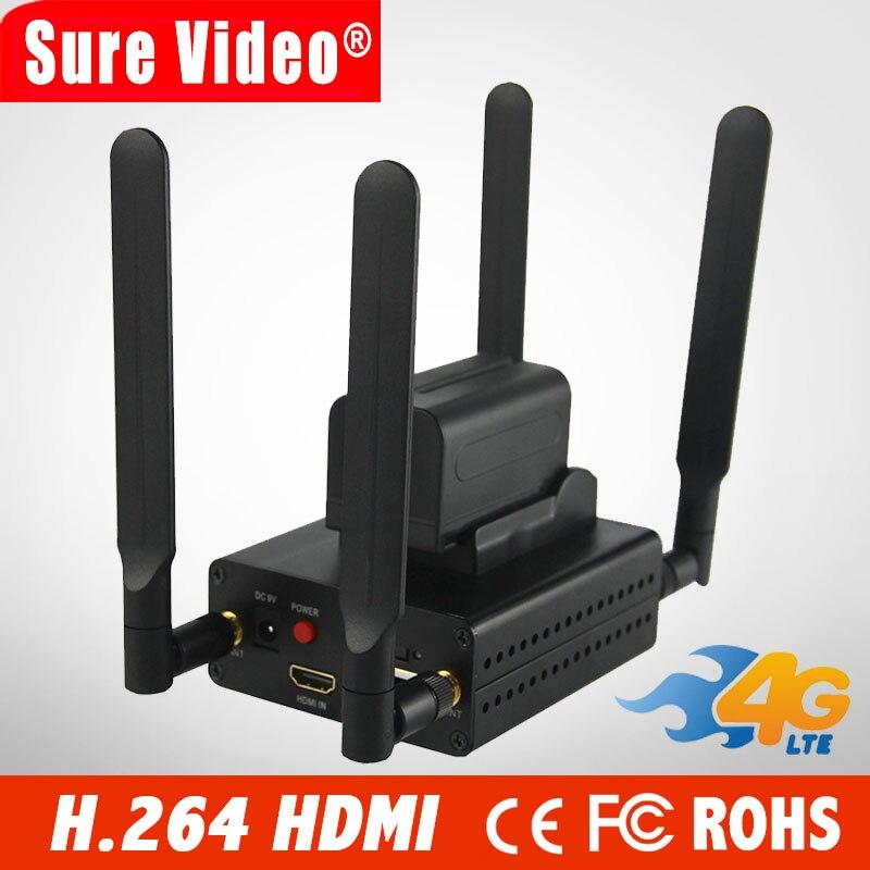 El mejor codificador H.264/H264 4G HDMI a IP codificador de transmisión en vivo IPTV transmisor de Video inalámbrico Wifi RTMP RTSP HLS soporte