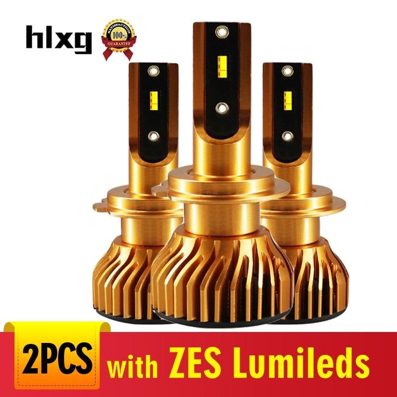 HLXG 12000LM H7 LED H11 con Lumileds Luxeon ZES Chips bombillas de faro delantero de coche LED H7 H4 luz antiniebla H8 bombilla HB3 9005 HB4