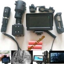 Bricolage Vision nocturne fusil portée LCD moniteur chasse caméra avec torche Laser IR 25mm/30mm montage 4.3 'écran pour monoculaire 200M
