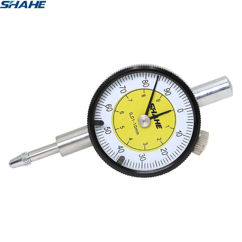 SHAHE MINI Dial Indicator 0-10 mm Meter Precise 0.01 mm Resolution Dial indicator Gauge Measurin Tool