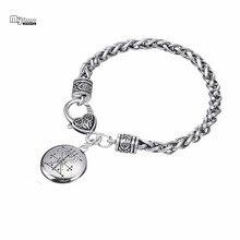 My Shape vaudou Loa Veve estampillé à la main Vodoun Hoodoo amulette Bracelets Bracelets amour Talisman chaîne & bracelet à breloques Ezili Freda