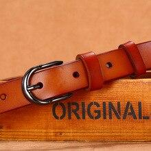 Cinturón vaquero de piel de vaca para mujer, cinturones de cintura de marca de lujo, cuero genuino, 115cm