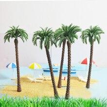 20 Pcs 18 Cm Hoge Architectonisch Model Palm Groene Boom Kofferbak Kunstmatige Diy Plastic Speelgoed Miniatuur Landschap Simulatie Scenario