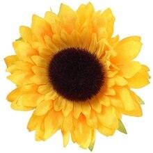 24 pièces têtes de tournesol artificielles fleur de soie Faux Floral pour centres de Table de mariage maison cuisine couronne hortensia Cupcakes