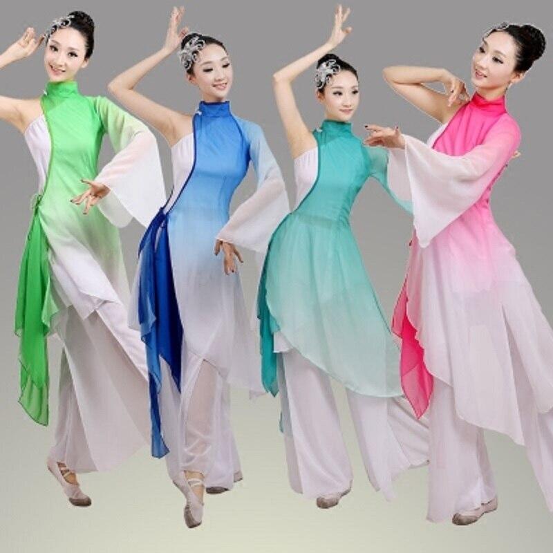 Traje de baile clásico folclórico tradicional de china para mujeres, niños y niñas, traje tradicional chino antiguo
