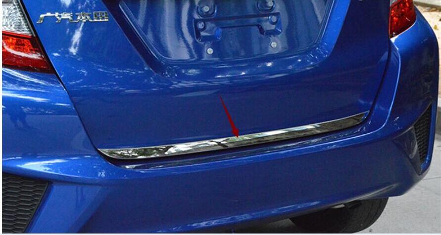 Para Honda Fit jazz 2014-2017 estilo de coche para parte trasera de carrocería puerta trasera parachoques embellecedor de bastidor lámpara maletero tapa 1 Uds