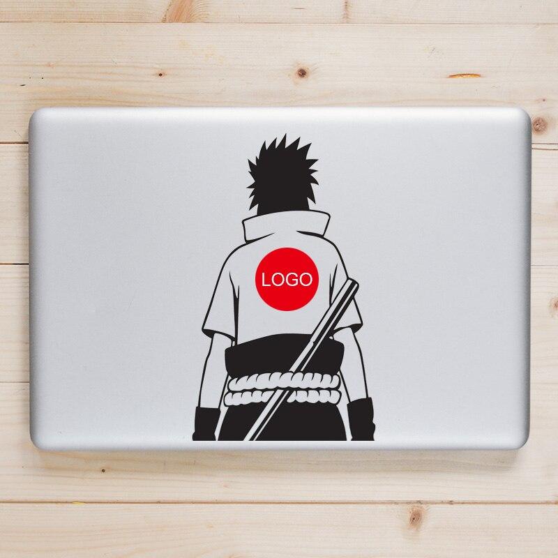 Uchiha Sasuke pegatina para Macbook Pro Air Retina 11 12 13 15 pulgadas Naruto Anime Mac Book Skin pegatina de cuaderno